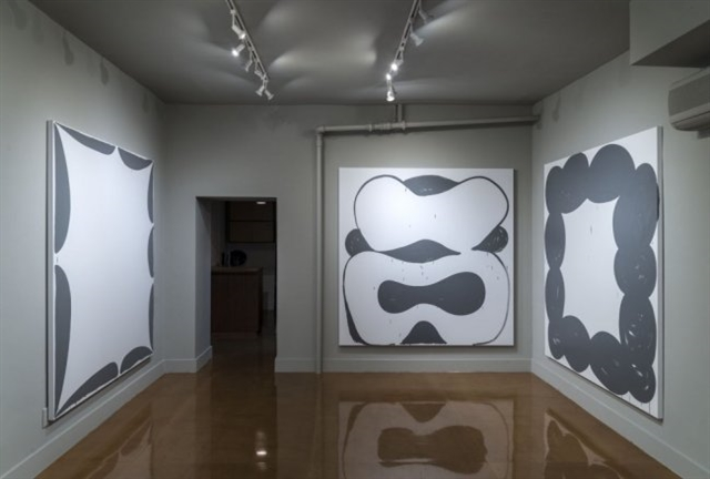 Installation view of Amy Feldman's 'High Signs' (all photographs courtesy of Blackston Gallery)